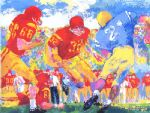 cross town rivalry 1967 by leroy neiman painting