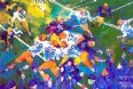 leroy neiman famous paintings - defending victory 1946 by leroy neiman