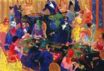 leroy neiman famous paintings - desert inn baccarat by leroy neiman