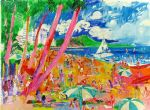 diamond head hawaii by leroy neiman oil paintings