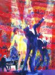 frank liza and sammy at royal albert hall by leroy neiman painting
