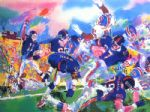 giants broncos classic by leroy neiman painting