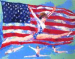 golden girl by leroy neiman painting