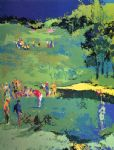 golf original paintings - golf landscape by leroy neiman
