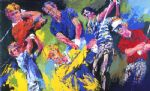 golf watercolor paintings - golf winners by leroy neiman