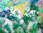owl watercolor paintings - hand off superbowl iii by leroy neiman