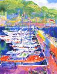 harbor at monaco by leroy neiman painting
