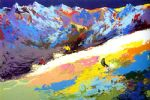 high altitude skiing by leroy neiman painting