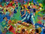 high stakes blackjack vegas by leroy neiman painting