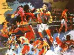homage to ali by leroy neiman painting