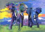 leroy neiman kilimanjaro bulls paintings