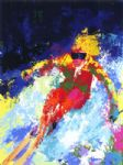 leroy neiman original paintings - lady skier by leroy neiman