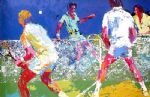 leroy neiman men s doubles painting