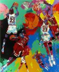 michael jordan by leroy neiman oil paintings