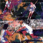 mixed doubles by leroy neiman painting