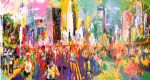 framed paintings - new york marathon by leroy neiman
