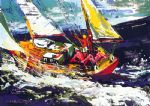 north seas sailing by leroy neiman painting