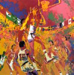 olympic basketball by leroy neiman painting