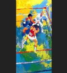 leroy neiman olympic boxing moscow 1980 painting