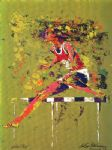 olympic hurdler by leroy neiman painting
