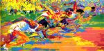 olympic track by leroy neiman paintings
