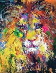 leroy neiman portrait of the lion painting 81759