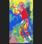 leroy neiman quarterback of the 80 s painting