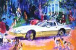leroy neiman original paintings - rendezvous a la corvette by leroy neiman