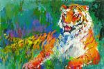 leroy neiman resting tiger painting 81999