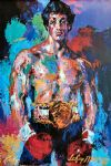 chinese acrylic paintings - rocky balboa by leroy neiman