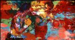 framed paintings - rocky vs apollo by leroy neiman