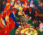 leroy neiman roulette ii painting 82181