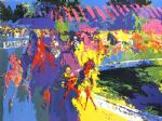 saratoga by leroy neiman painting