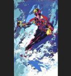 skier by leroy neiman painting