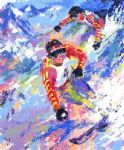leroy neiman skiing twins painting