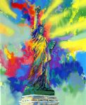 statue of liberty by leroy neiman painting