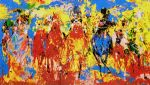 stretch stampede by leroy neiman painting