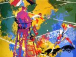 sudden death by leroy neiman painting