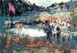 golf original paintings - tournament golf by leroy neiman