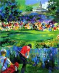 golf original paintings - valhalla golf by leroy neiman