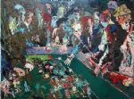 vegas craps by leroy neiman painting