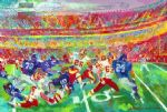 leroy neiman washington redskins in fedexfield oil paintings