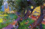 leroy neiman washington square park oil paintings