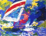 leroy neiman wind surfing oil paintings
