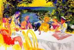 leroy neiman wine alfresco paintings