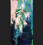 leroy neiman winter olympic skating oil paintings