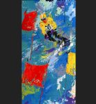 leroy neiman winter olympic skiing painting 85173