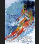 leroy neiman world class skier oil paintings