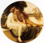 lord frederick leighton famous paintings - acme and septimus by lord frederick leighton