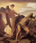 lord frederick leighton famous paintings - elijah in the wilderness by lord frederick leighton